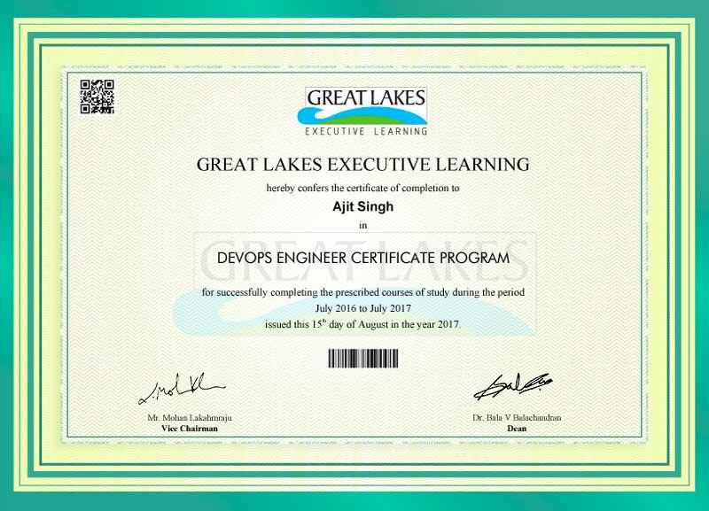 Great Learning - DevOps Engineering Certificate